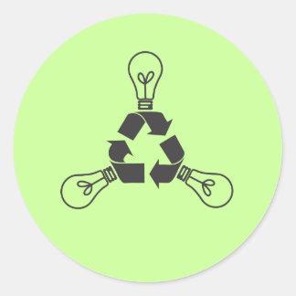 Recycle Power Round Sticker