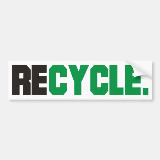 Recycle Products & Designs! Bumper Sticker