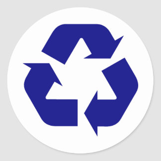 Recycle Products & Designs! Classic Round Sticker