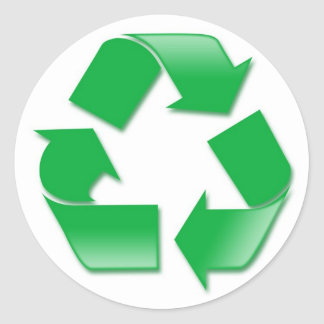 Recycle Round Stickers