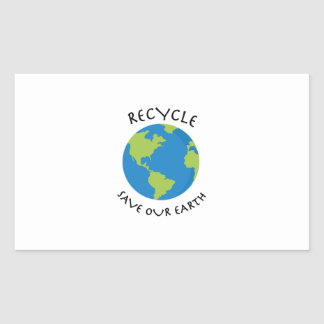 Recycle Save Rectangle Stickers