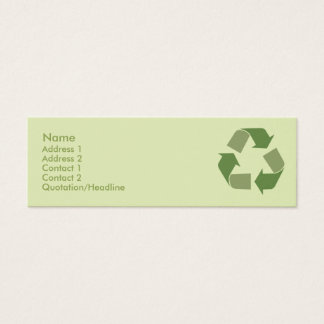 Recycle - Skinny Mini Business Card