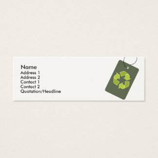 """""""Recycle"""" Skinny Profile Card"""