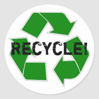 Recycle! Round Stickers