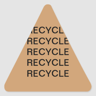 RECYCLE TRIANGLE STICKER