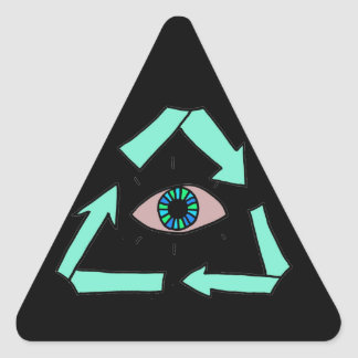 Recycle! Triangle Stickers