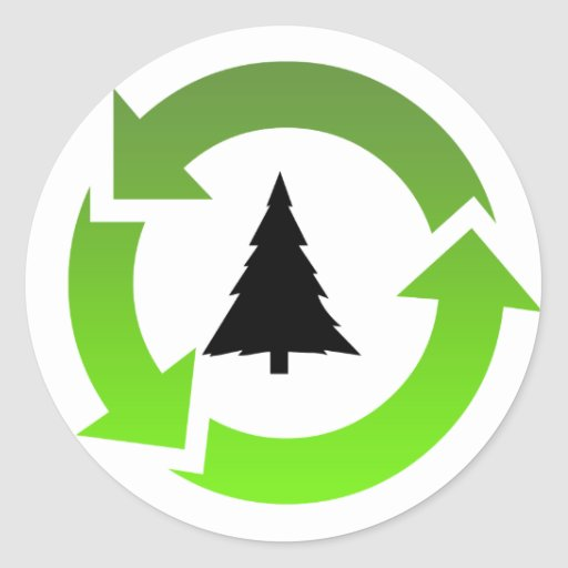 recycle stuff round stickers