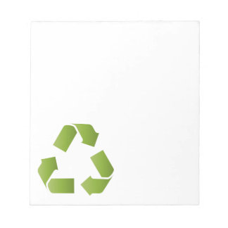 RECYCLE SYMBOL NOTEPADS