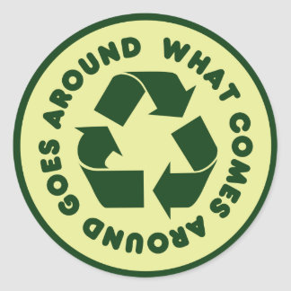 Recycle Symbol Round Sticker