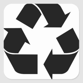 Recycle Symbol Square Sticker