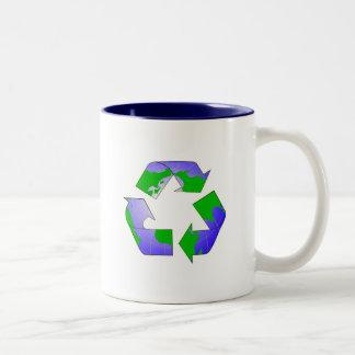 Recycle Symbol with Earth Mug