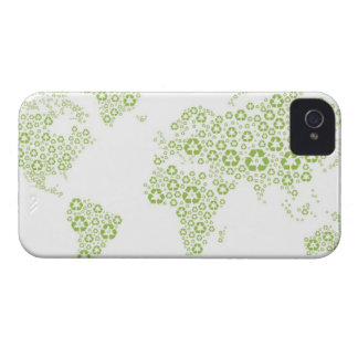 Recycle symbols used to create the planet iPhone 4 case