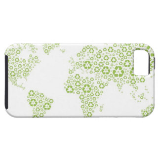 Recycle symbols used to create the planet iPhone 5 covers