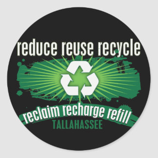 Recycle Tallahassee Round Stickers