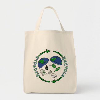 Recycle totebag grocery tote bag