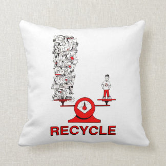 Recycle Trash Pillow