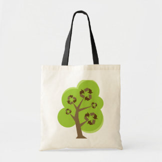 Recycle Tree Green Tote Bag