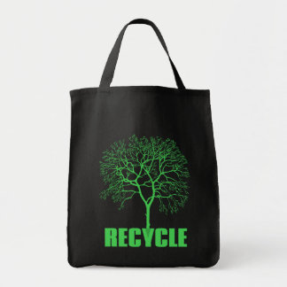 Recycle Tree Tote Bag