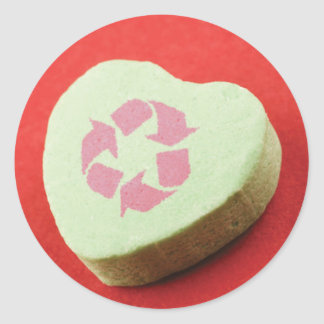 Recycle Valentine Candy Stickers