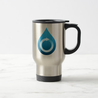 Recycle water 15 oz stainless steel travel mug