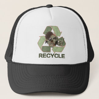 Recycle Zombie Trucker Hat