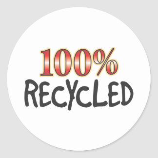 Recycled 100 Percent Sticker