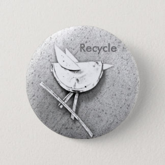Recycled Bird 2 Inch Round Button