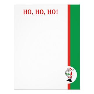 Recycled Christmas Paper - Ho, Ho, Ho Design Letterhead Template