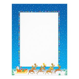 Recycled Christmas Paper - Santa Sleigh Design Letterhead Template