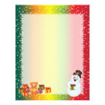 Recycled Christmas Paper - Snowman Design Personalized Letterhead
