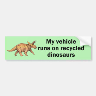 Recycled Dinosaurs Bumper Sticker
