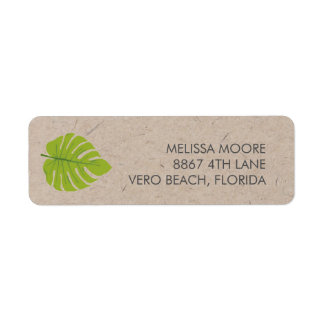 Recycled Green Leaf Return Address