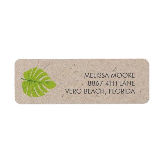 Recycled Green Leaf Return Address