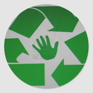 Recycled Handprint Round Sticker