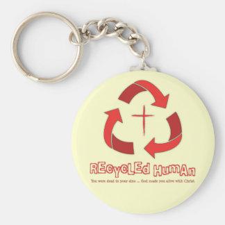 Recycled Human Christian keychain