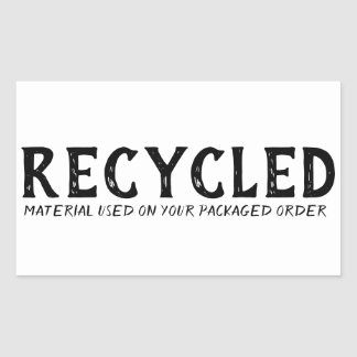 Recycled Material Used Repurpose Shipping Sticker