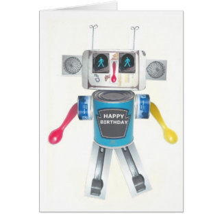 Recycled Robot birthday card