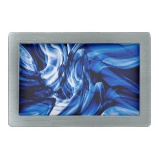 Recycled Smoke Art Design Rectangular Belt Buckle