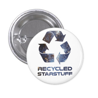 Recycled Star Stuff 1 Inch Round Button