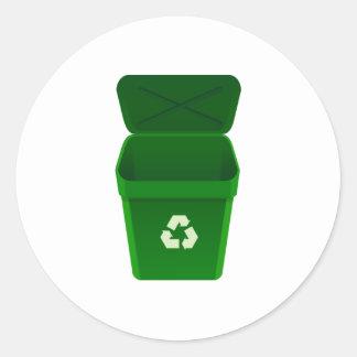 Recycling Bin Round Sticker