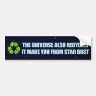 recycling bumper sticker