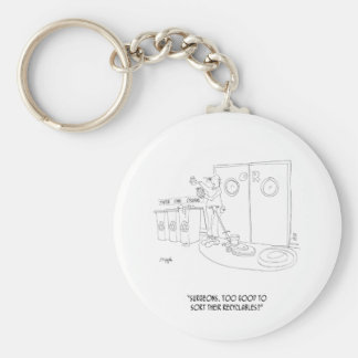 Recycling Cartoon 9265 Keychain