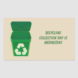 Recycling Collection Day Sticker