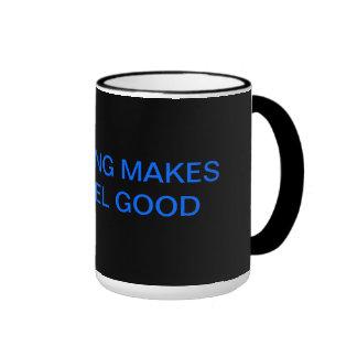 RECYCLING MAKES YOU FEEL GOOD RINGER COFFEE MUG