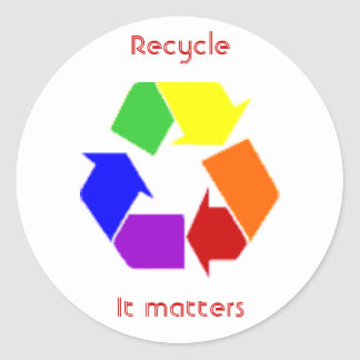 recycling matters classic round sticker