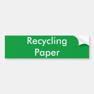 Recycling Paper Bumper Sticker