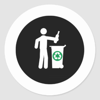 Recycling Round Sticker