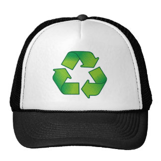 Recycling symbol trucker hat