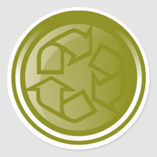 Recycling Symbol Round Sticker