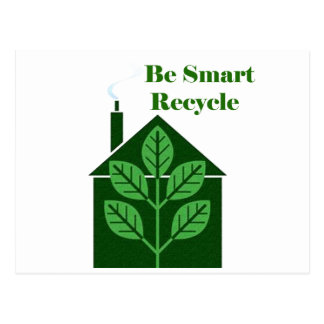 Recyle Be Smart Environmental Issues Postcards